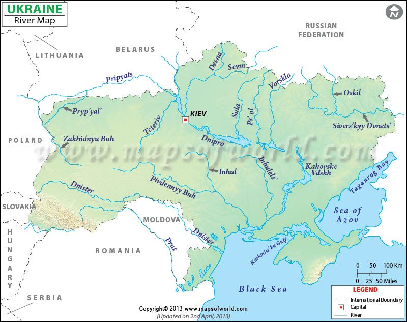 Ukraine River Map history7 Pinterest Ukraine, Rivers and Lakes - fresh world map in russian