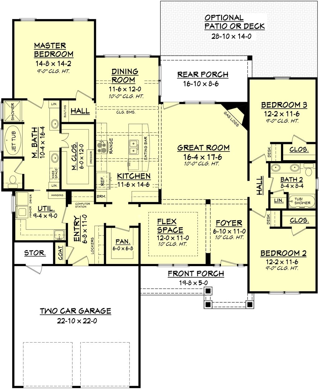 Large walk in closet house plans