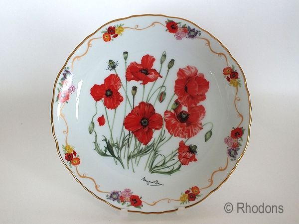 Royal British Legion Collectors Plate, Field Poppy In Flanders Fields, M Stevens Limited Edition # 4184 C. Limited Edition Collectors Plate...