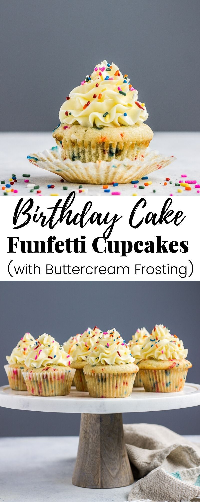 Birthday cake funfetti cupcakes veronikas kitchen