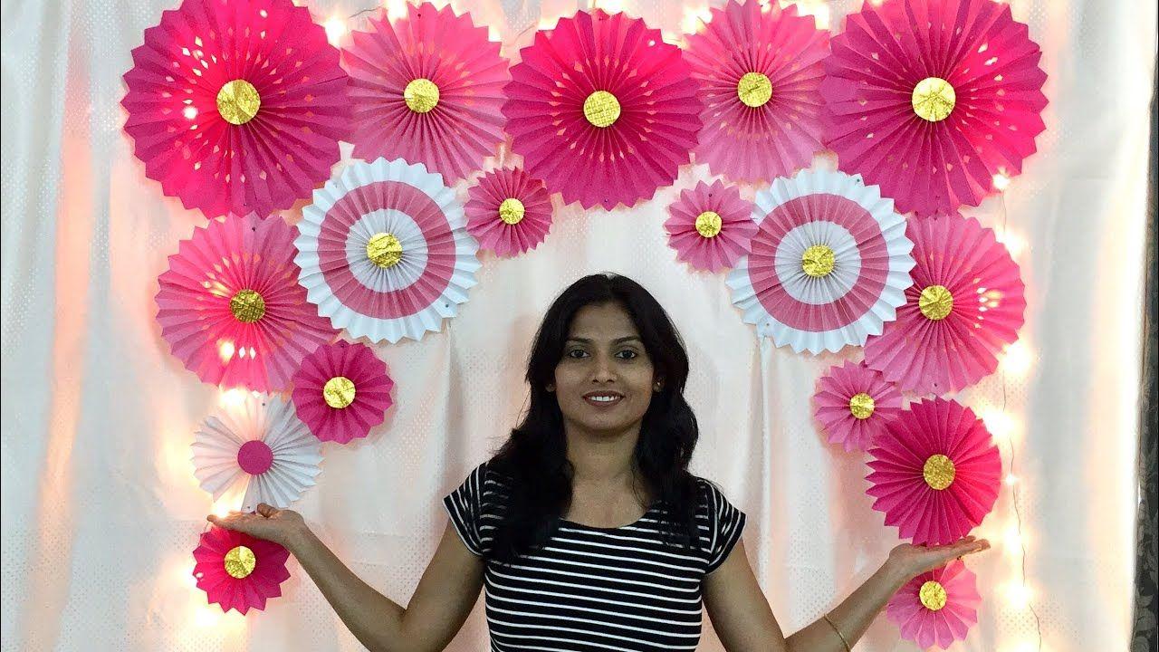 Very Easy Paper Fan Birthday Decoration Easy Birthday Decoration