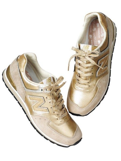 New Balance- Gold sneakers | New balance sneakers, Sneakers ...