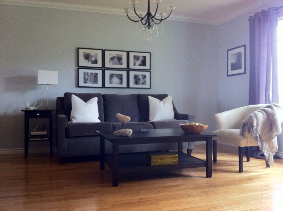 Light Grey Living Room Color Is Planetary Silver By Behr
