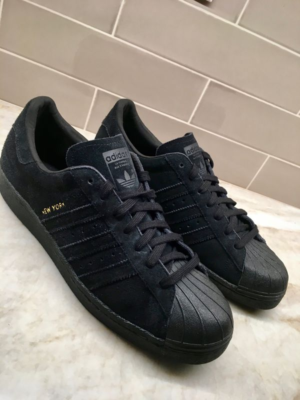 96a0c4d5458 Brand New Black Adidas Superstar 80s City Series Shoes size 10.5 in ...