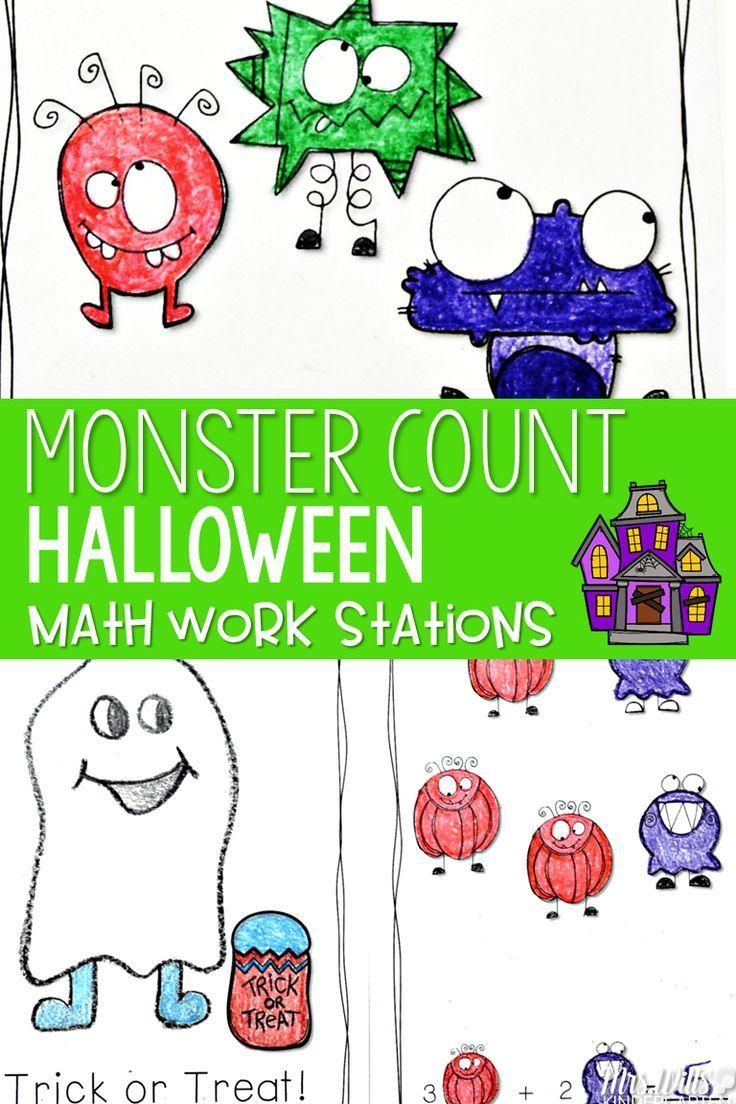Kindergarten Math Centers ~ Halloween   Math   Pinterest   Halloween ...