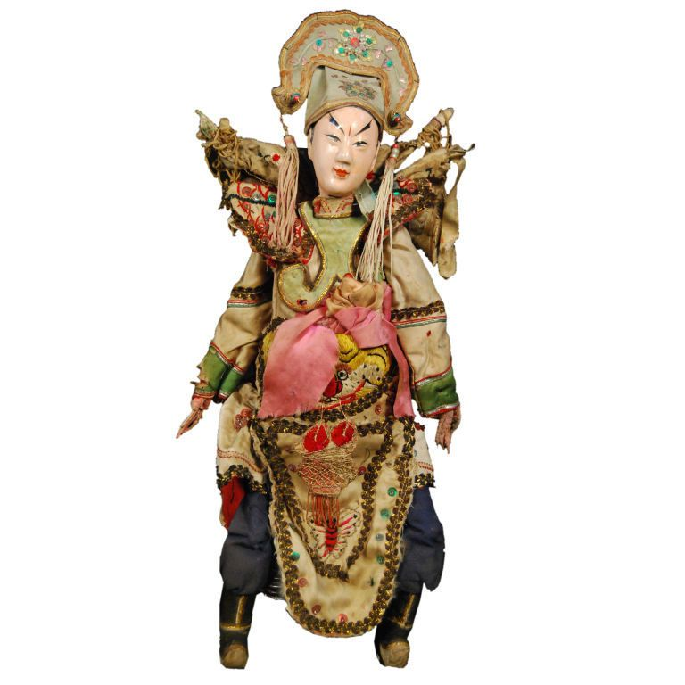 Antique asian puppet