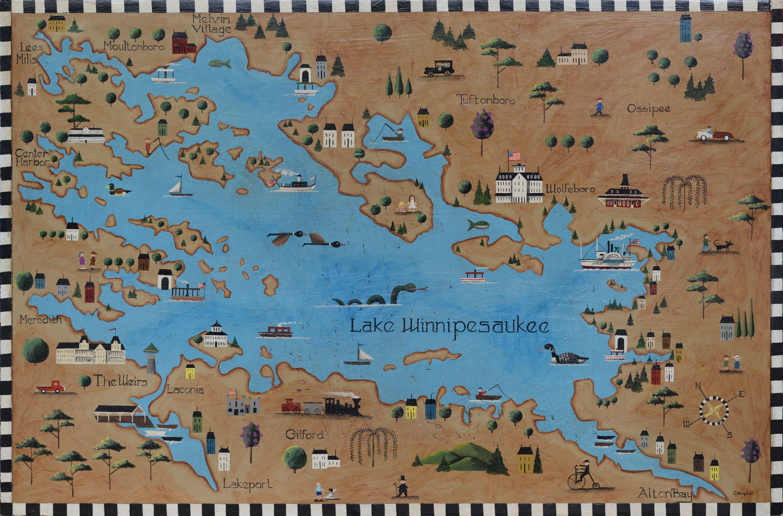 Lake Winnipesaukee Map Lake Winnipesaukee Winnipesaukee Lake