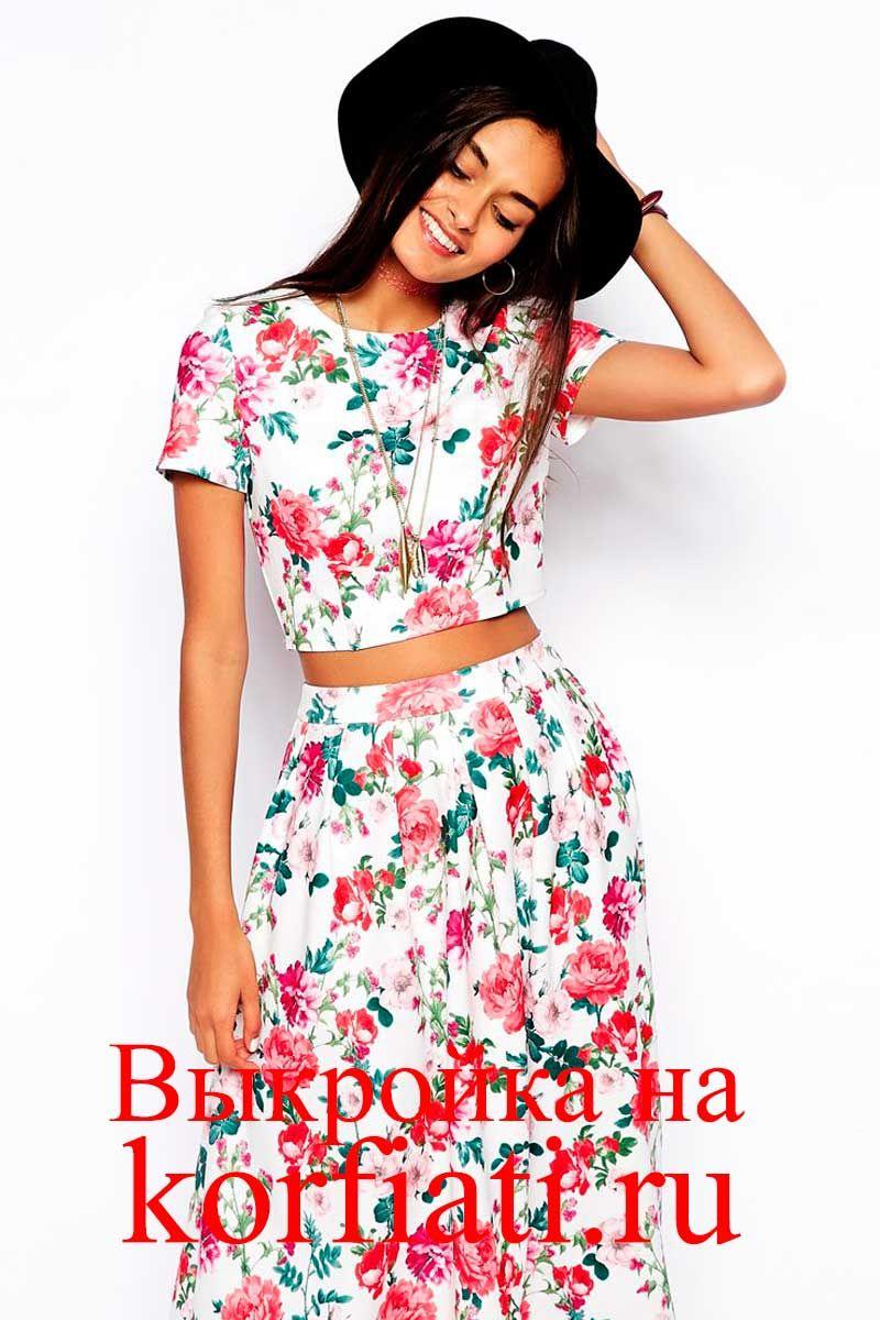 Выкройки летнего платья и юбки фото 414