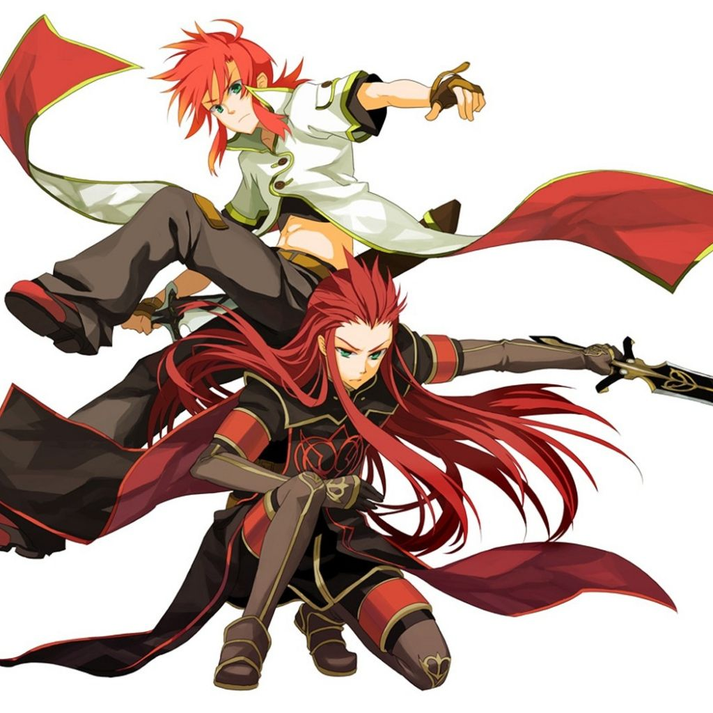 1024x1024 Wallpaper Anime Boy Girl Fight Move Sword Anime Fight Anime Tales Of Abyss