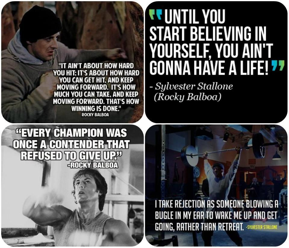 Motivational Quotes For Sports Teams: Best 25+ Rocky Balboa Quotes Ideas On Pinterest