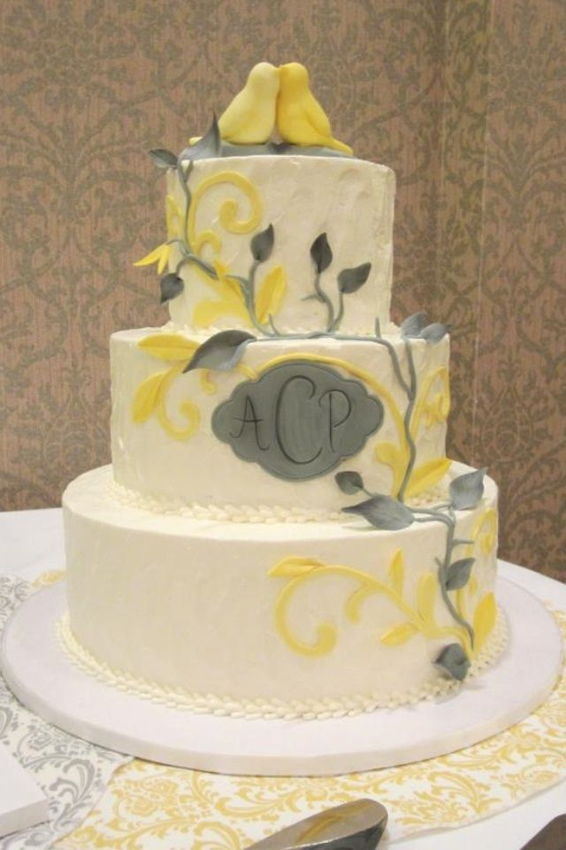 wedding cakes yellow and grey yellow and gray wedding cakes grey and yellow wedding 26162