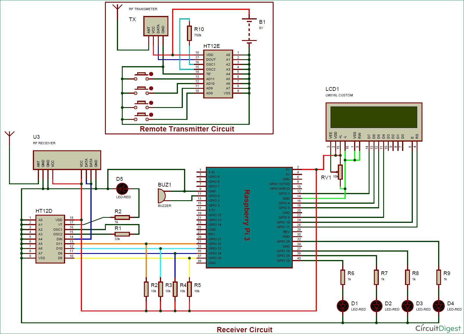 Rf Remote Control Circuit Diagram - Wiring Diagram General
