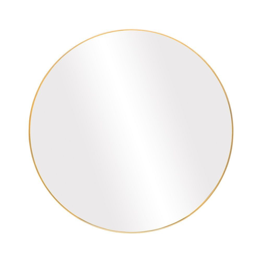 The Tangerine Mirror Company Infinity Round 28 Inch Wall Mounted Mirror In Satin Gold The Home Depot Canada In 2020 Wall Mounted Mirror Round Mirrors Mirror Decor
