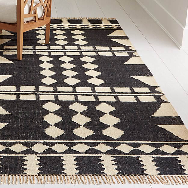 Yusuf Block Pattern Rug 8 X10 Reviews Crate And Barrel Rugs Girls Rugs Neutral Rugs