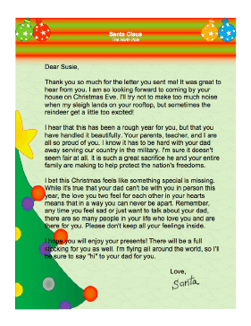 This Printable Letter From Santa Claus Brings Warm Holiday Wishes