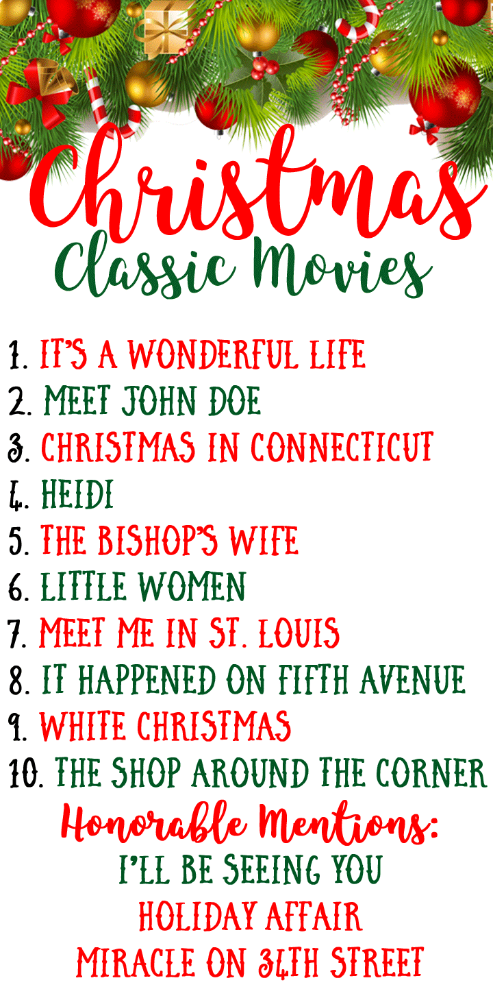 Top 10 Favorite Classic Christmas Movies Classic