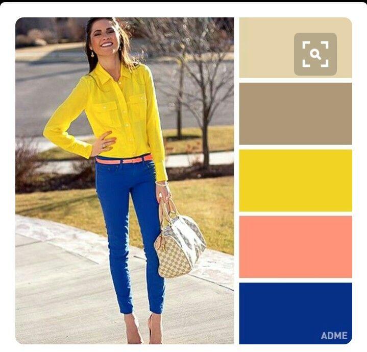 Blue Yellow Beige Peach Combinar Colores Ropa Combinacion Colores Ropa Como Combinar Colores Ropa