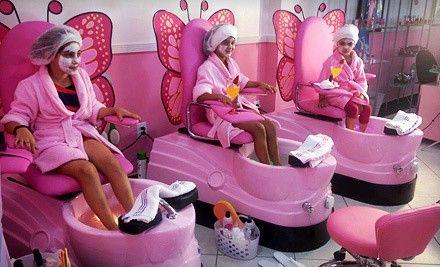 The Girly Girlz Pampered Palace Kids Hair Salon Kids Salon Kids Spa