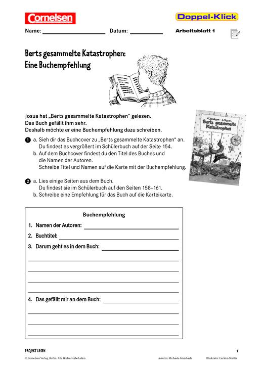 Daz 6 Klasse Buchempfehlung Schreiben Berts Gesammelte