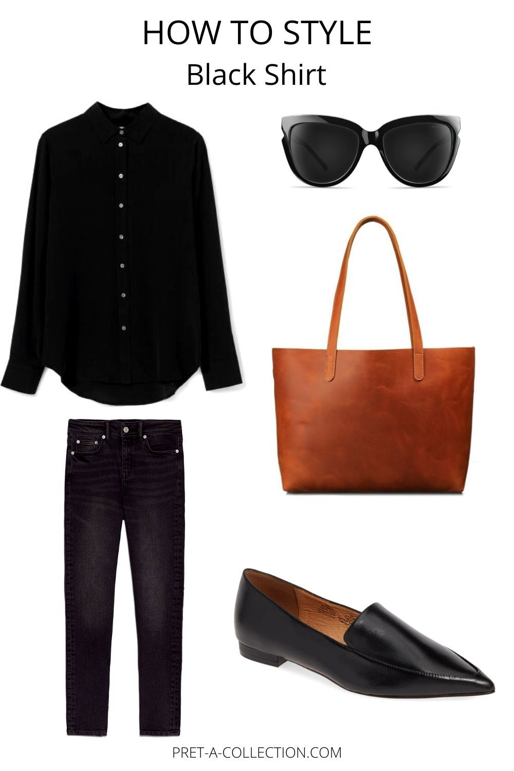 How To Style Black Shirt #fashionbasics