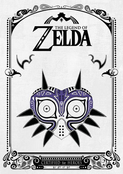Zelda legend - Majora\'s mask Art Print | Geek Stuff | Pinterest | La ...
