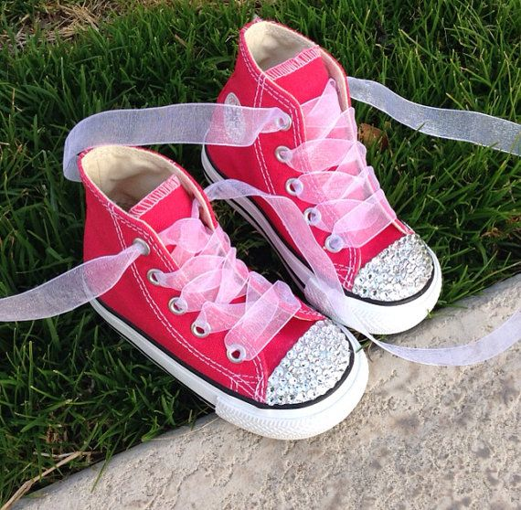 Bedazzled Converse by blingbymandie on Etsy  too cute