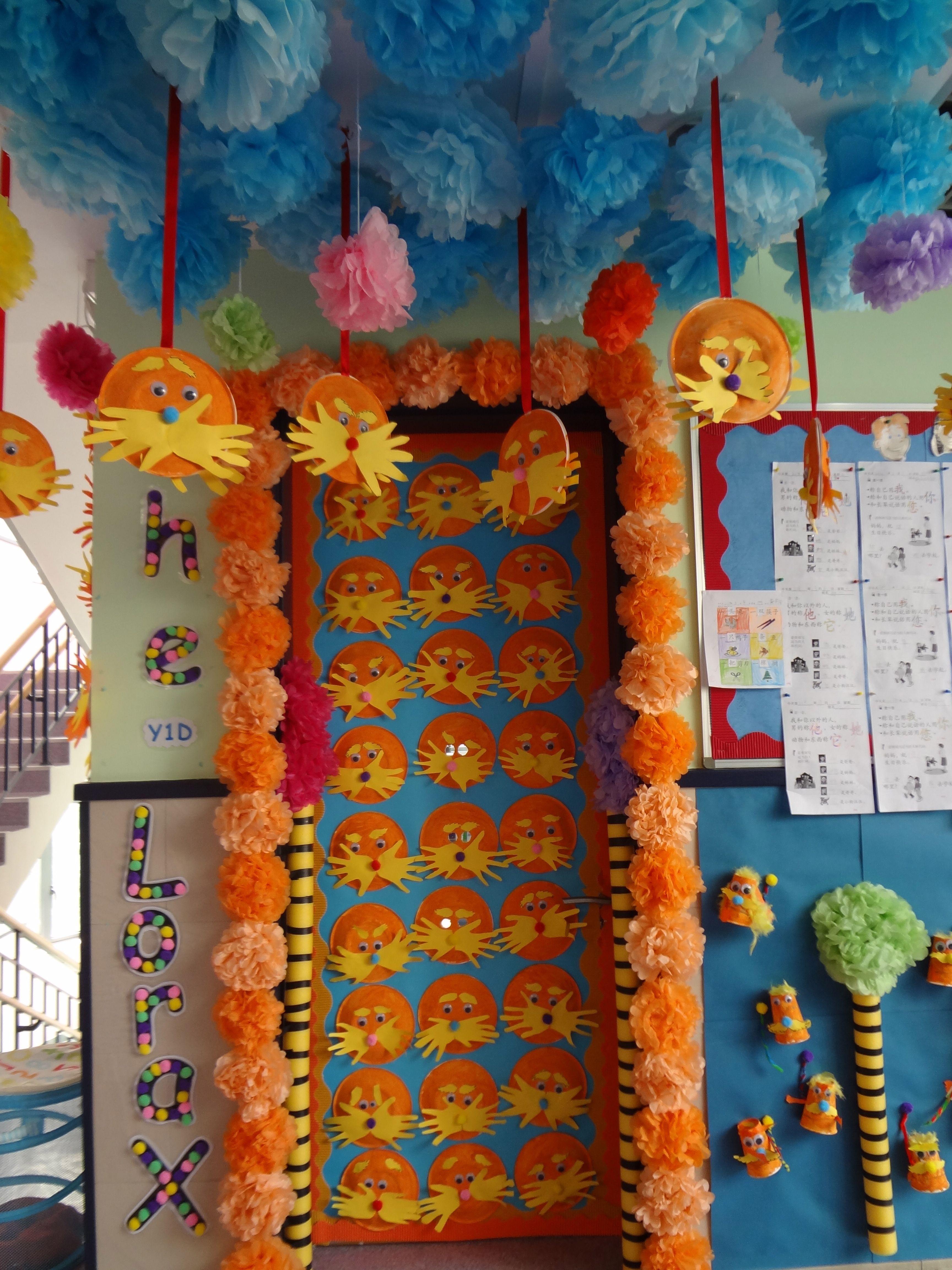 The Lorax door display | PreK - Dr. Seuss | Pinterest | Door ...