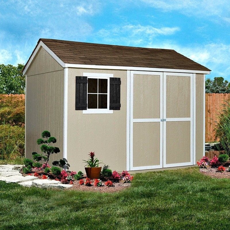 Handy Home Avondale 10x8 Wood Storage Shed Kit With Floor And Window 18242 6 Wooden Storage Sheds Storage Shed Kits Shed Kits