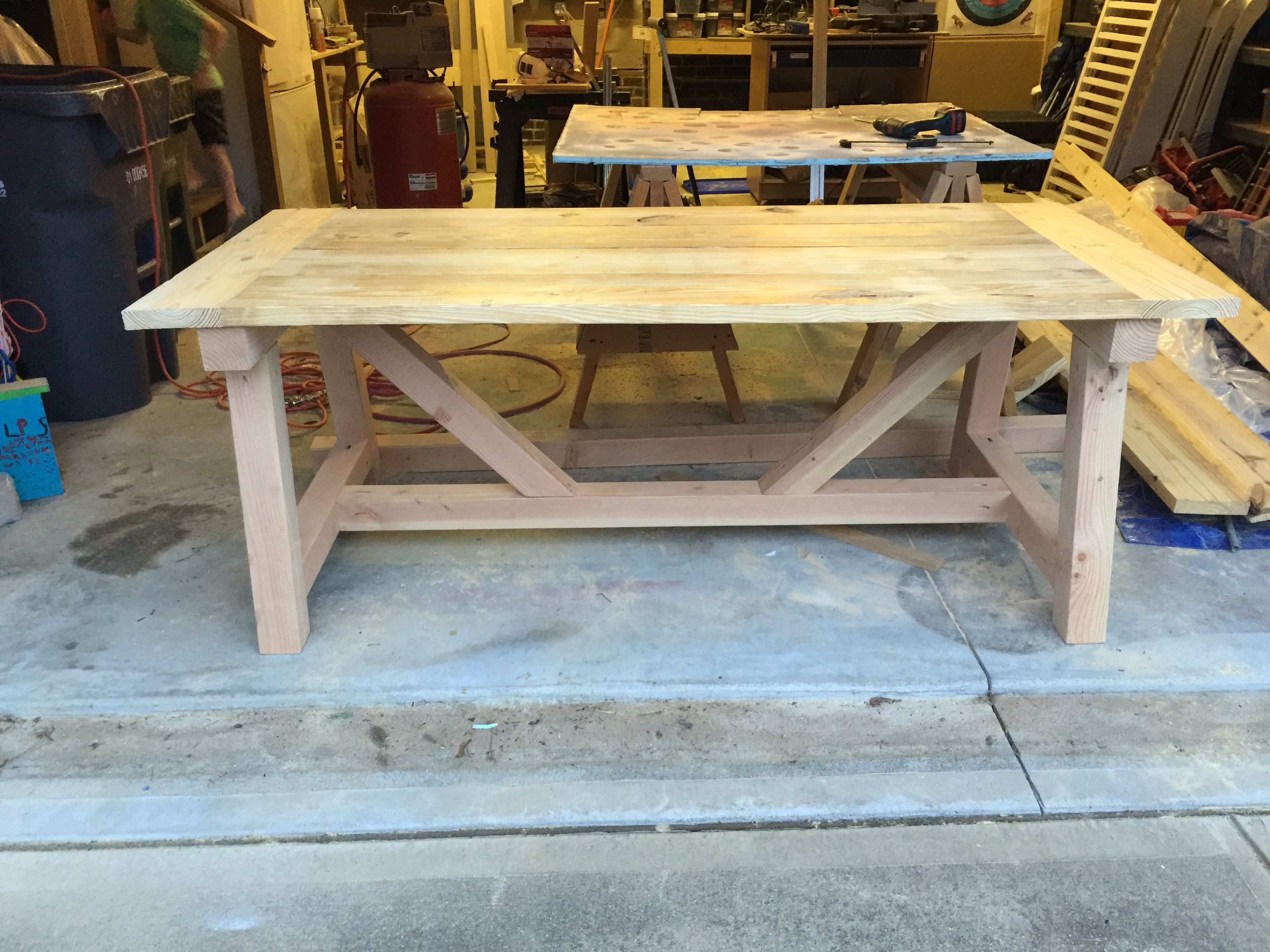 Ana White Truss Table Diy Projects Truss Table Farmhouse Kitchen Tables Diy Kitchen Table
