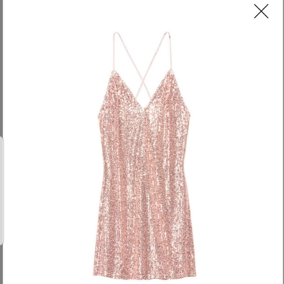 Victoria S Secret Rose Gold Sequin Slip Short Cocktail Dress Size 2 Xs In 2021 Short Cocktail Dress 70s Party Outfit Slip Shorts [ 960 x 960 Pixel ]