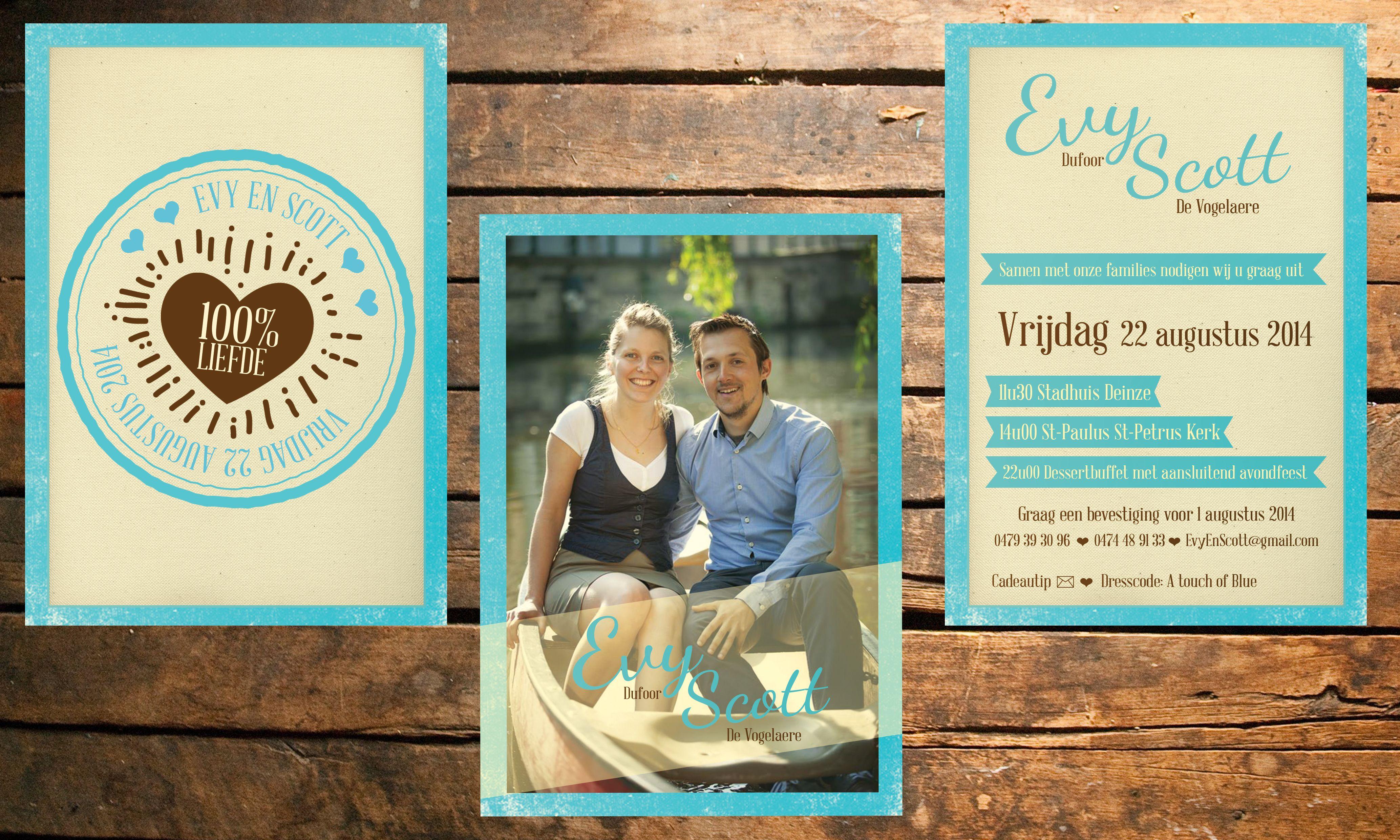 Our invitations. Onze uitnodigingen voor het dessertbuffet.