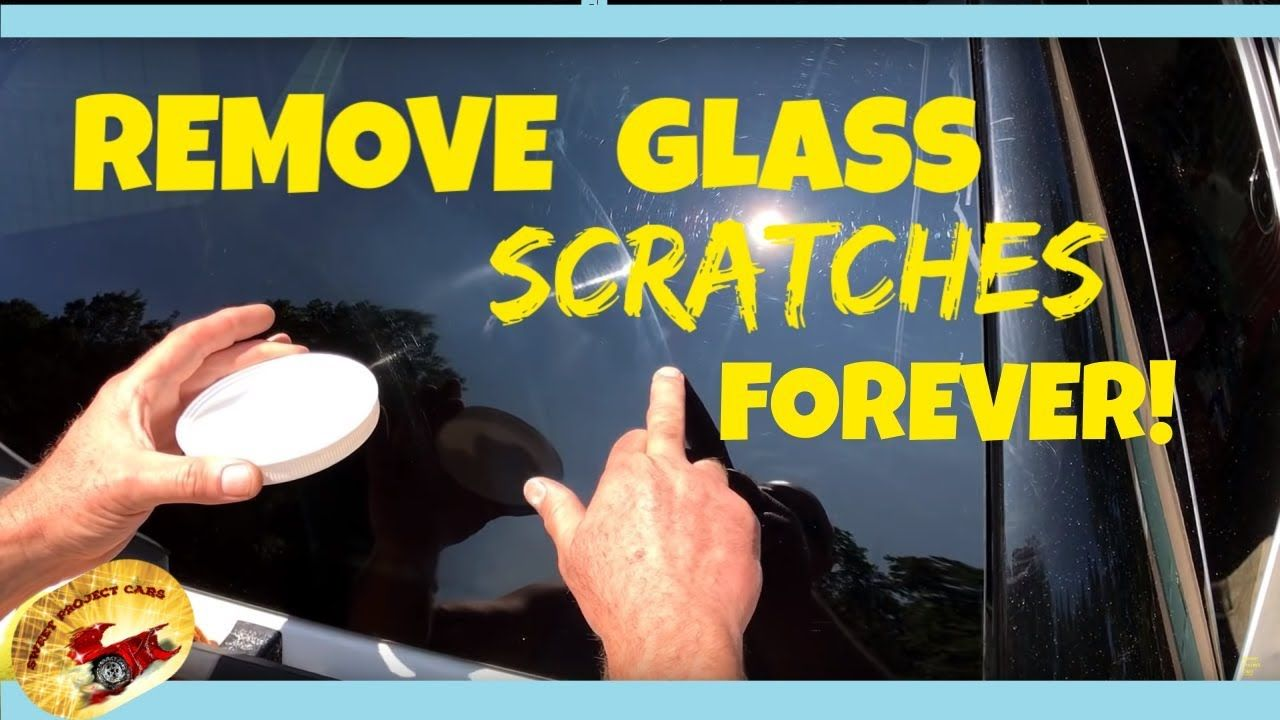 how to remove glass scratches and windshield wiper marks