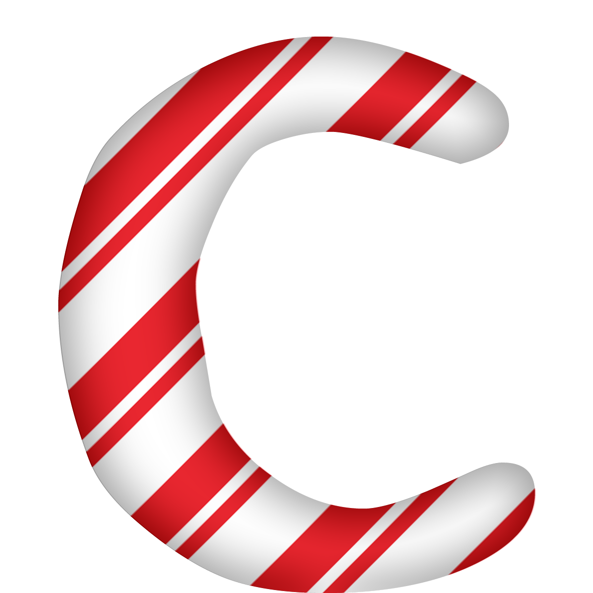 Capital Letter C Png 1200 1200 Christmas Lettering Christmas Alphabet Free Digital Scrapbooking