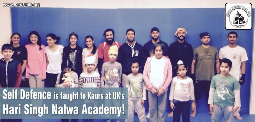 Self Defense is Taught to Kaurs at UK's Hari Singh Nalwa Academy!