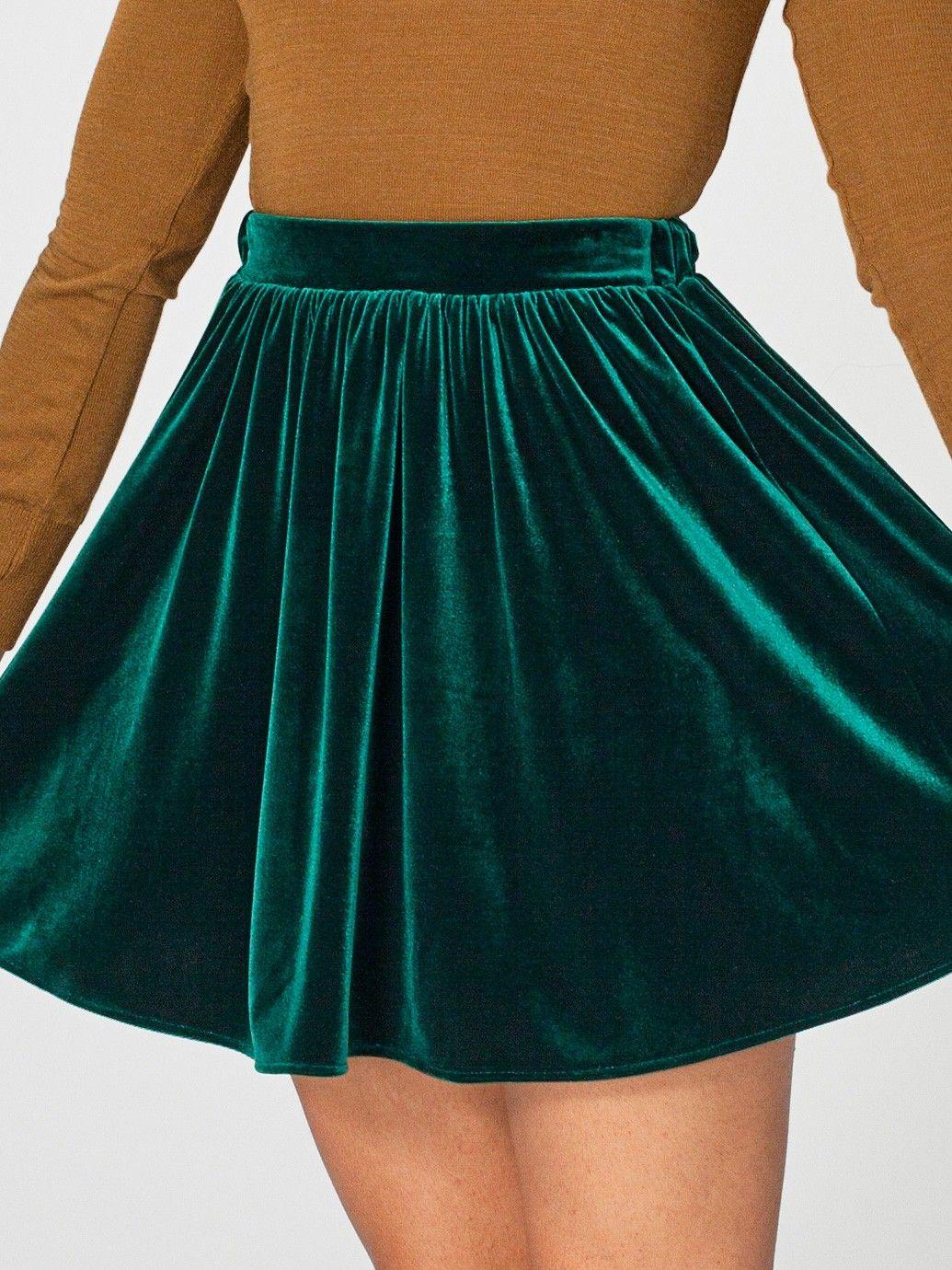 Stretch Velvet Skirt | Minis | Women's Skirts | American Apparel
