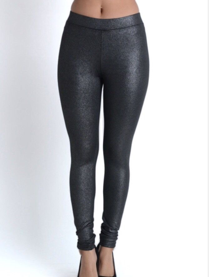 3c6204105e603b Metallic faux-leather fleece lined leggings 96% polyester, 4% spandex We  always recommend hand washing