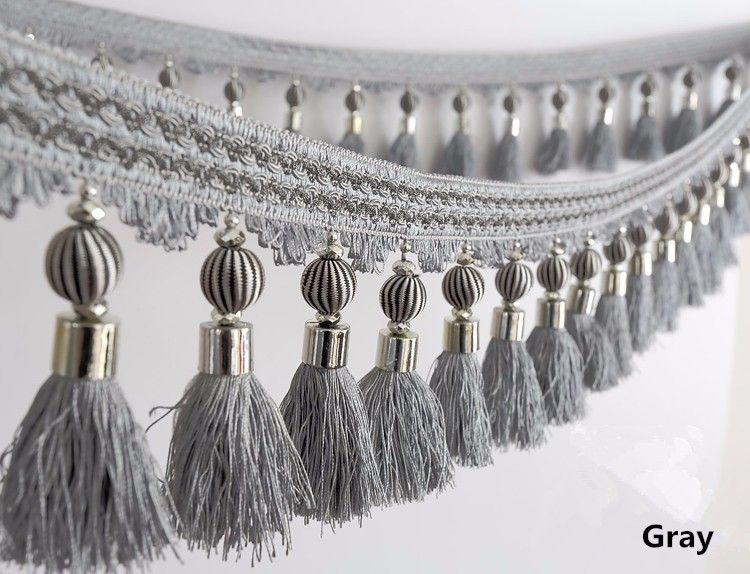 6m Lot Curtain Accessories Metal Decor Balls Beads Lace Tassel