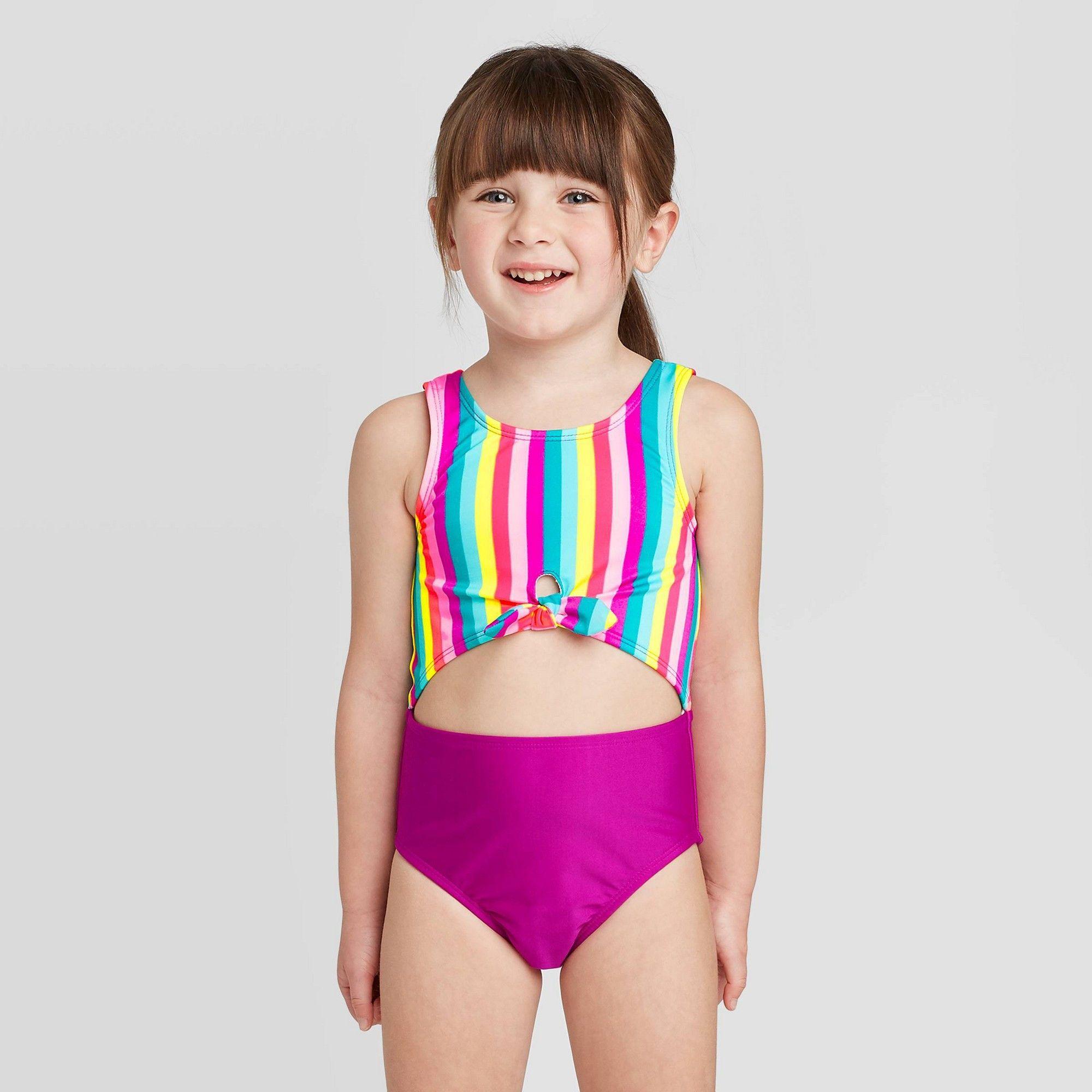 Paw Patrol Toddler Girl Pup Power Bathing Swim Suit 4T One Piece New UPF 50