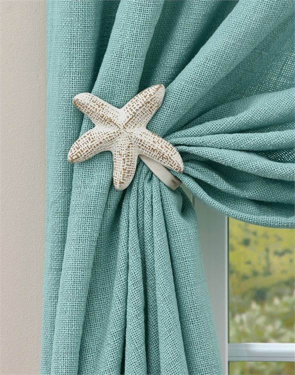 Starfish aluminum curtain tie backs products pinterest - Rideaux theme mer ...