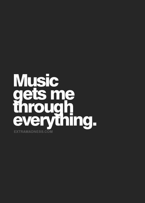 e6a5b02bbe948 Deep music quote that makes you think and reflect. Music has a way ...