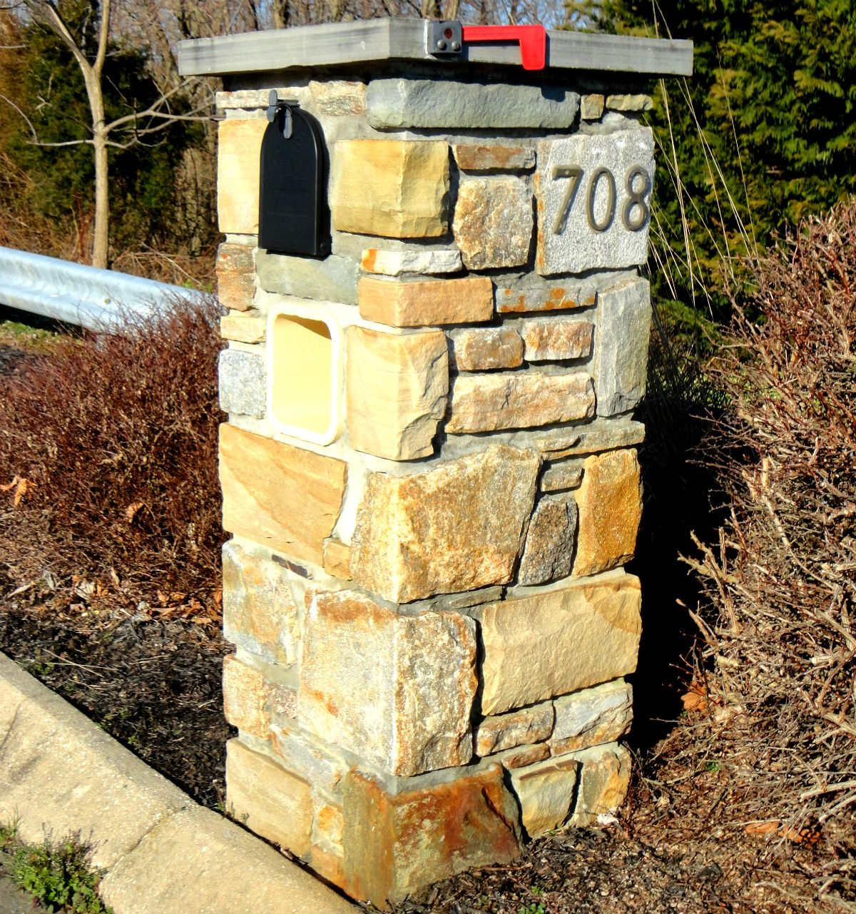 Vecchio Masonry Stonework Mailbox Stone Baltimore City Baltimore ...