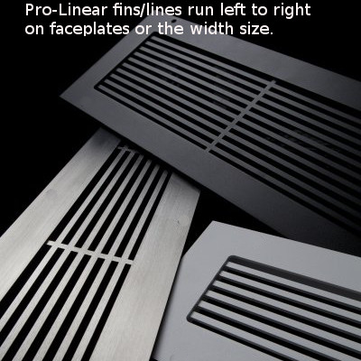 Linear With Fins Running Left To Right Decorative Vent Cover Vent Covers Floor Registers