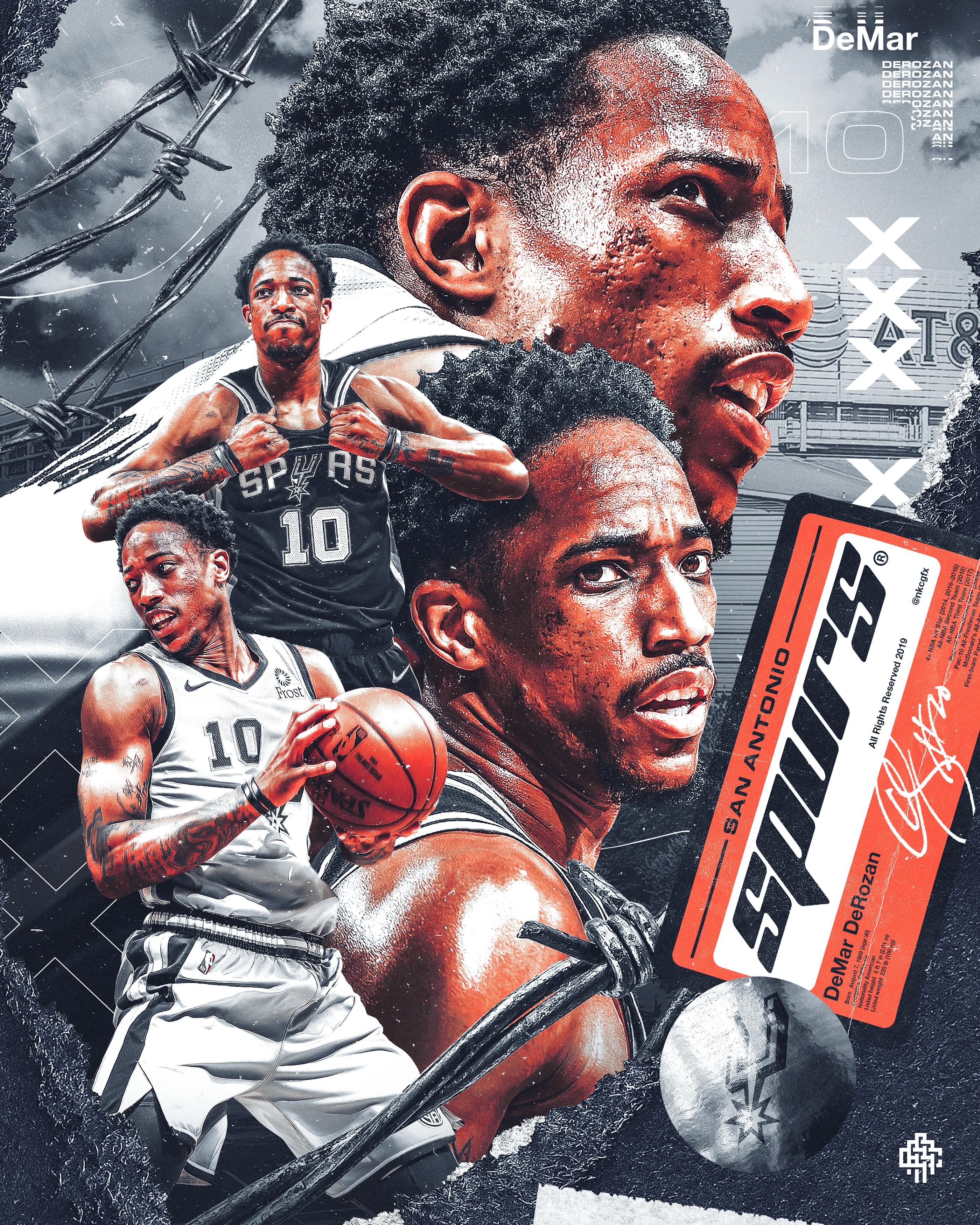 Demar Derozan On Behance Nba Wallpapers Sports Design Inspiration Nba Art