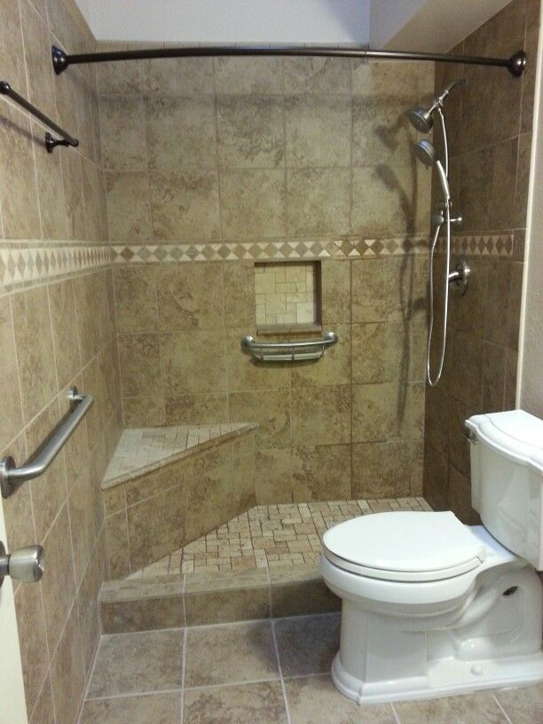 Bath Remodel Half Nice Layout But Probably A Smaller Shower Grab Rails That Could Double As Towel Washcloth Holders Make Sense Long Term