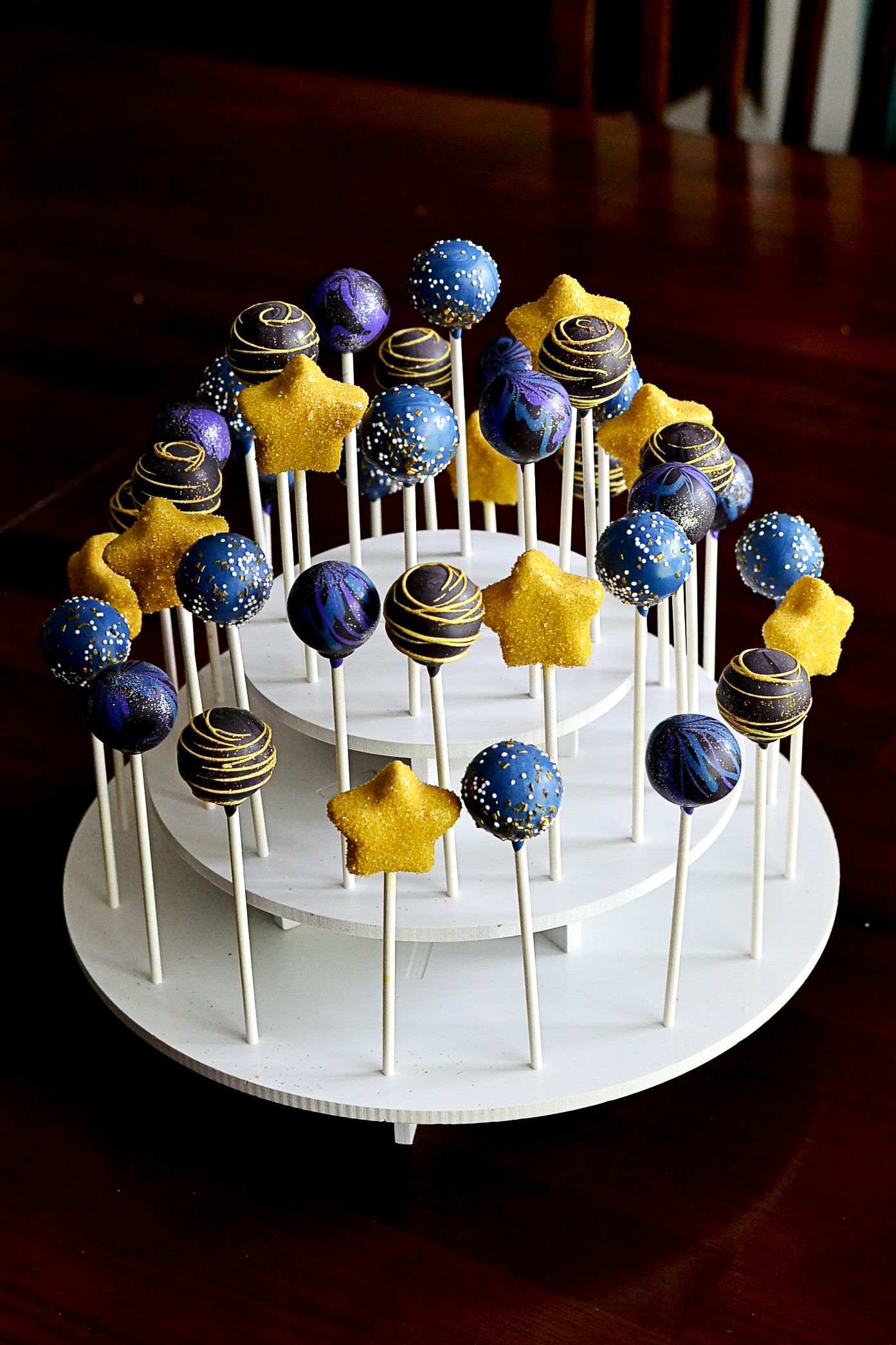 Outer Space Amp Star Cake Pops In 2019 Outer Space Party