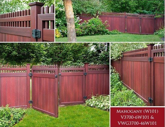 Mahogany Fence Backyard Fences Vinyl Fence Cheap Fence