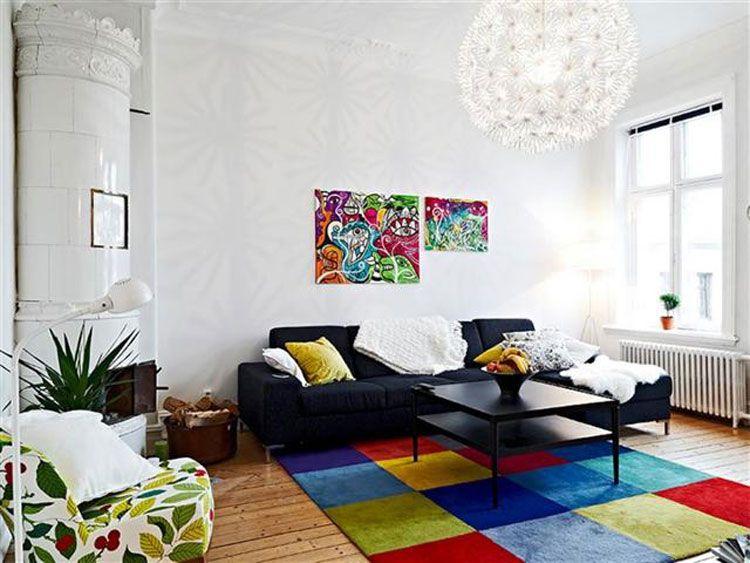 Tappeti Da Salotto Quadrati : 18 bellissimi tappeti colorati originali e dinamici complementi d