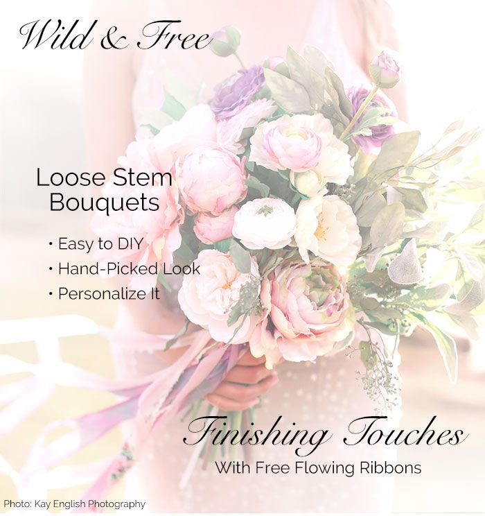 Make a beautiful loose stem bouquet with silk flowers from afloral make a beautiful loose stem bouquet with silk flowers from afloral for your garden mightylinksfo Gallery