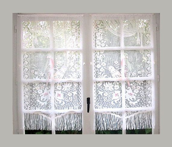 bedroom valance curtain curtains for attached with lace amazon love white