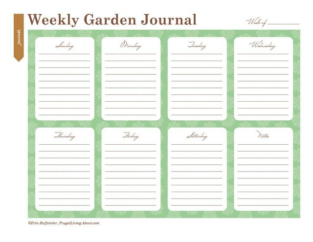 picture about Free Printable Garden Journal named Employ the service of These types of Printable Back garden Laptop Sheets in the direction of Arrange Your